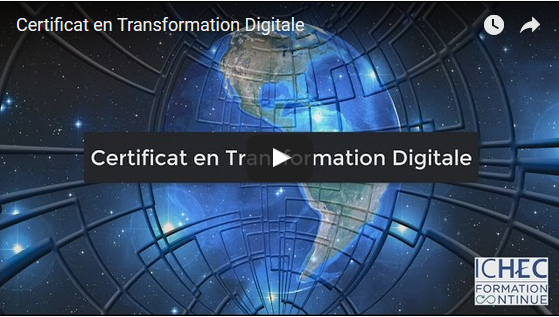 Nouvelle formation: Certificat en Transformation Digitale